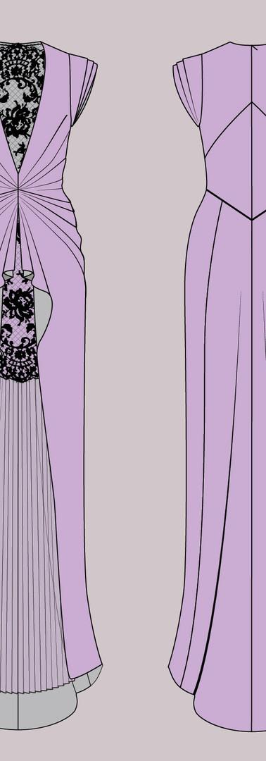 CAD Illustration - Formal gown