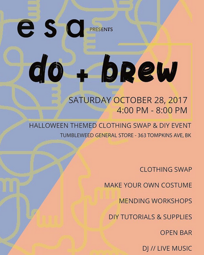 Halloween Do&Brew event poster used for print and web