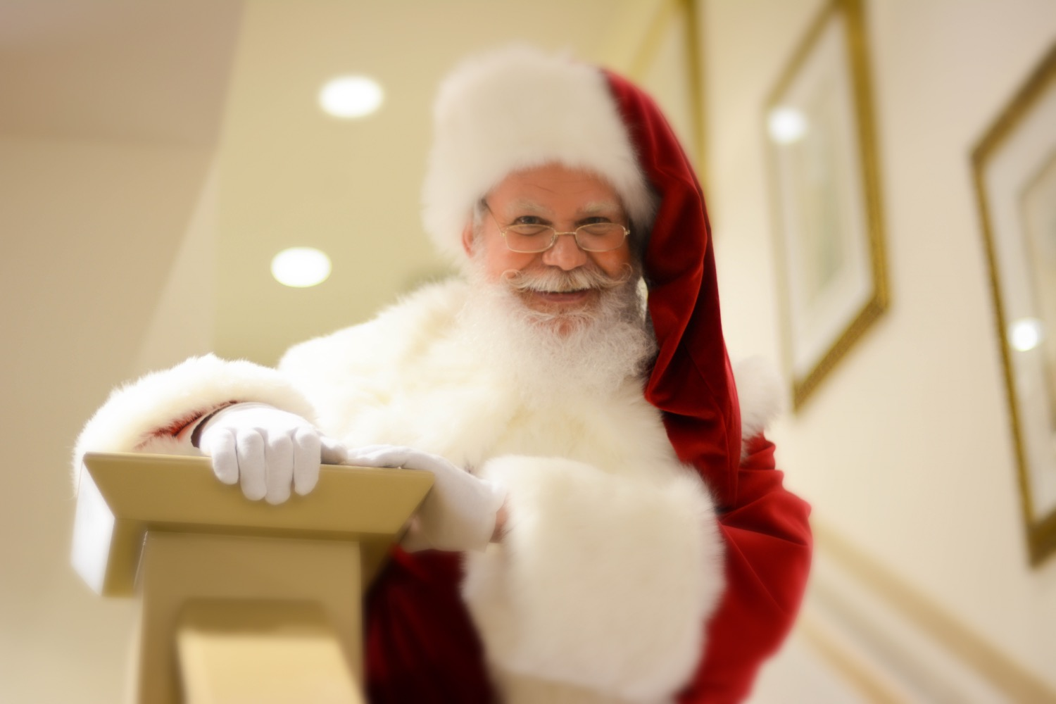Santa's always smiling!