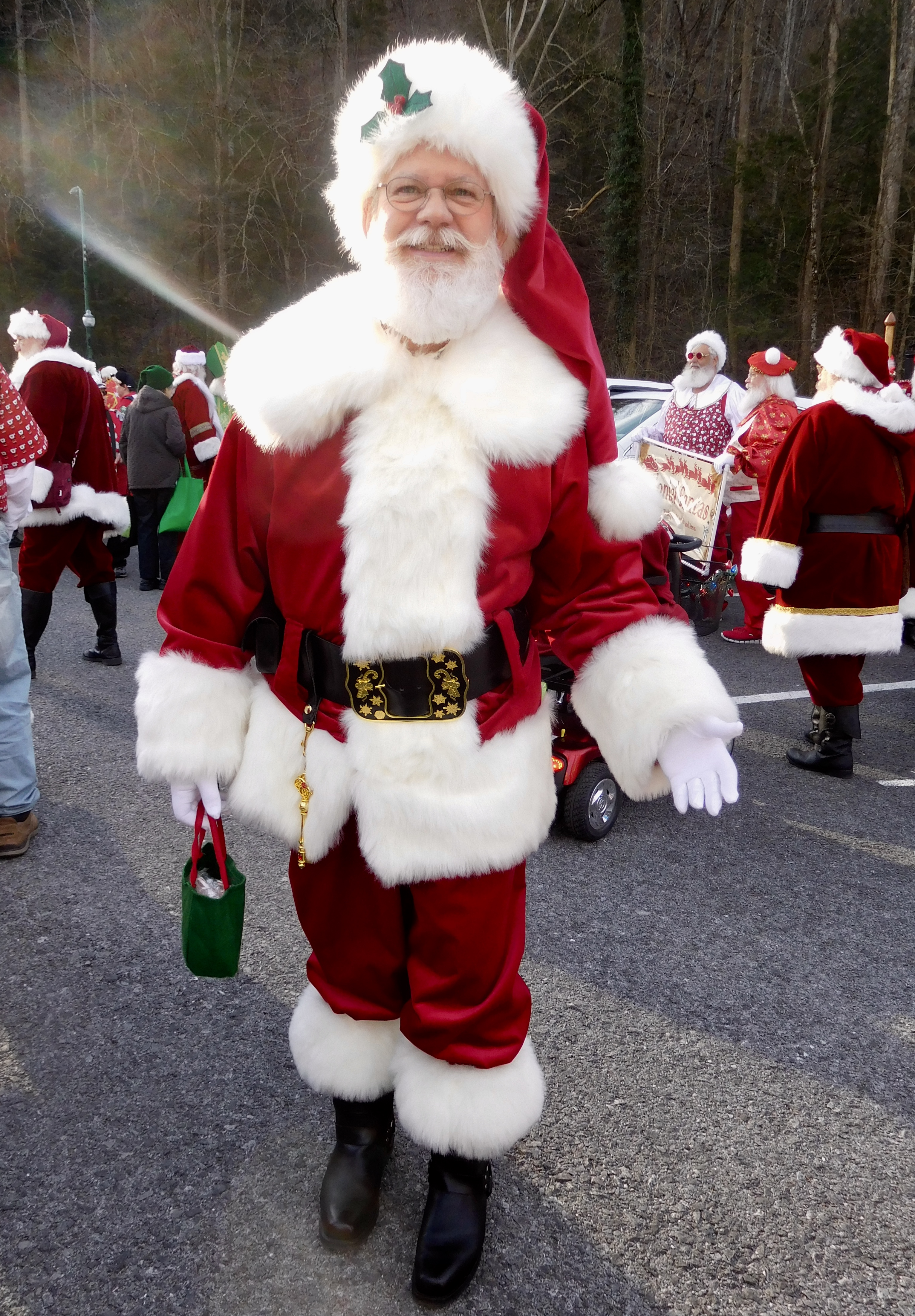 Santa loves parades!