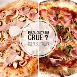 Pizza cuite ou crue