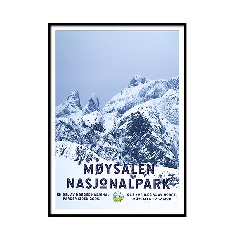 Møysalen 1262 moh i vinterdrakt