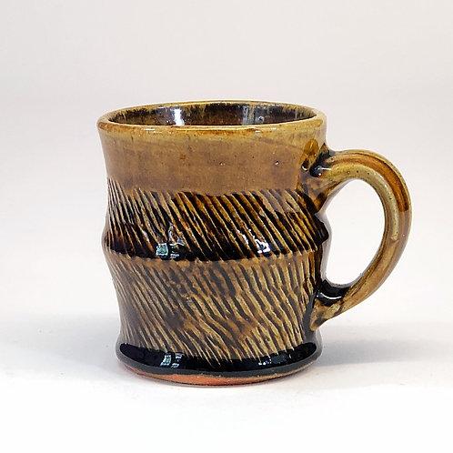 Amber Tenmoku Mug
