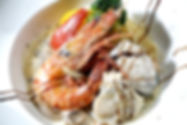 大蝦鮮貝義大利麵(味噌奶醬)