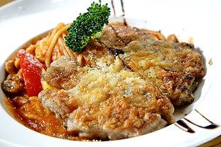 香草雞腿排義大利麵(白醬)