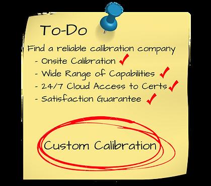 Custom Calibration benifits and services