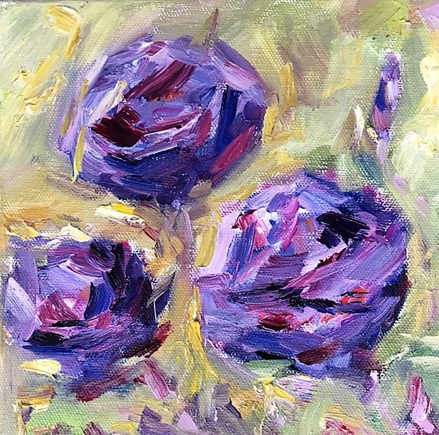 Three Purple Roses