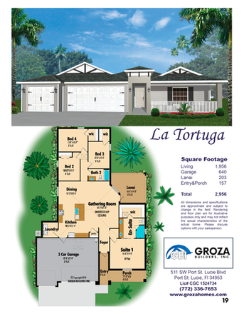 La Tortuga Floorplan - Groza Builders Inc.