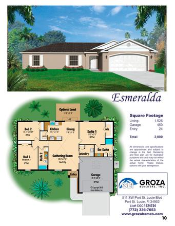 Esmeralda Floorplan - Groza Builders Inc.