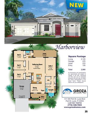 Harborview Floor Plan, Groza Builders Inc.