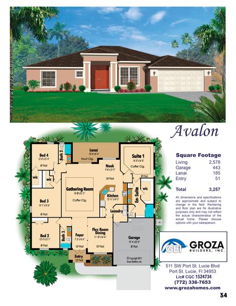 Avalon Floorplan Groza Builders Inc.