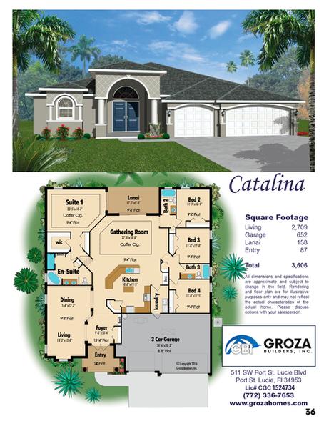 Catalina Floorplan - Groza Builders Inc.