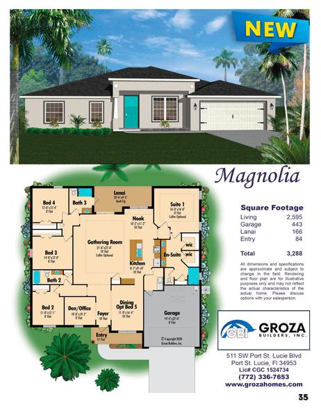 Magnolia Floor Plan - Groza Builders Inc.
