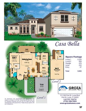 Casa Bella Floorplan, Groza Builders Inc