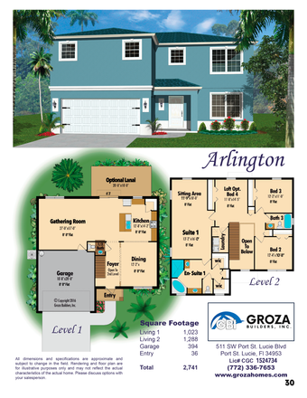 Arlington Floorplan by Groza Builders