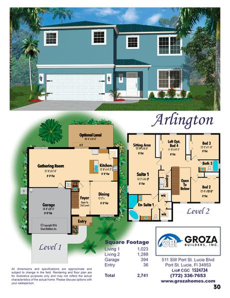 Arlington Floorplan by Groza Builders