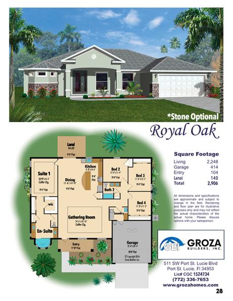 Royal Oak Floor Plan - Groza Builders Inc.