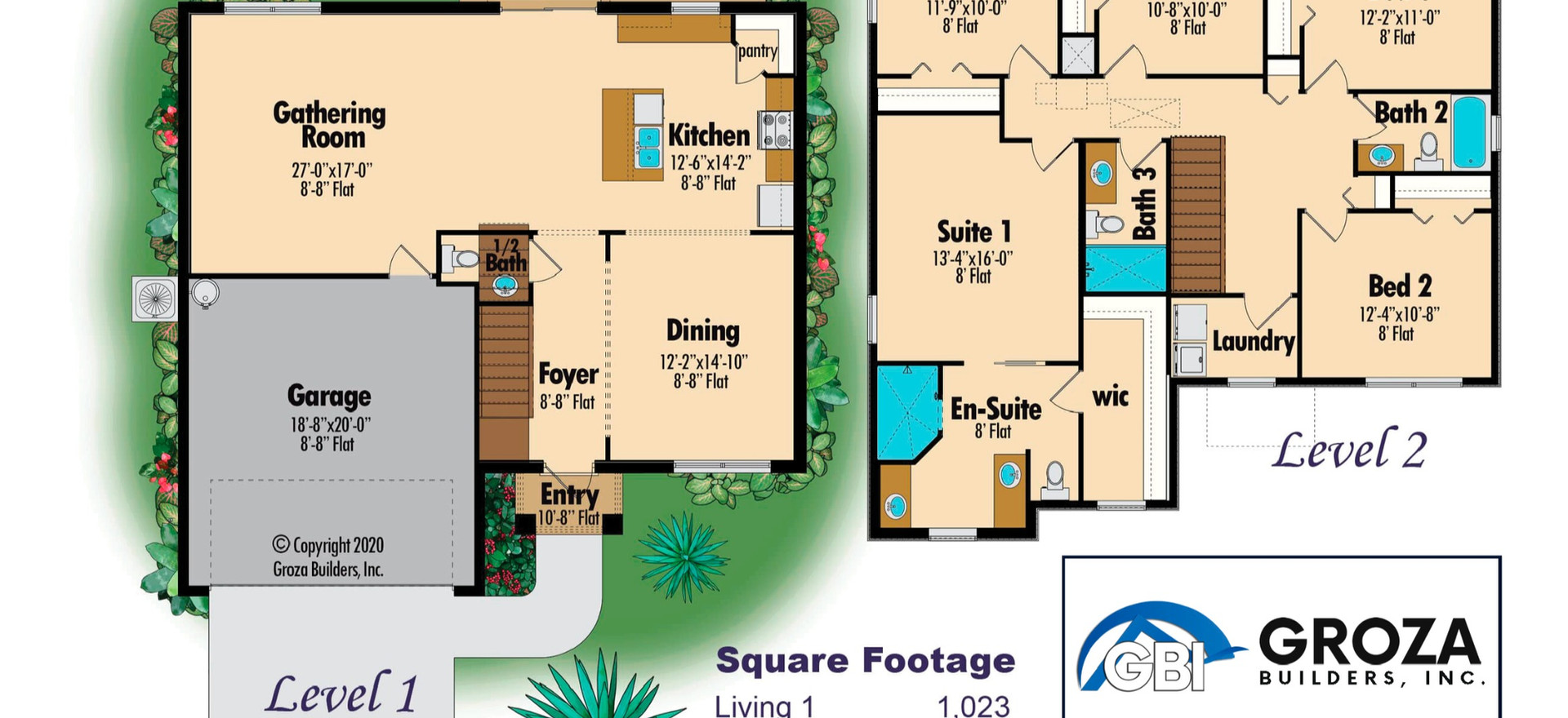 Azalea Floor Plan - Groza Builders Inc.