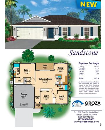 Sandstone Floor Plan, Groza Builders Inc.