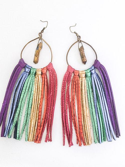 Metallic Rainbow fringe