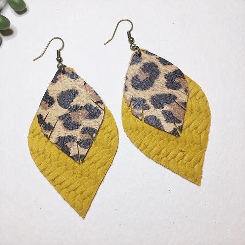 Mustard and leopard petals