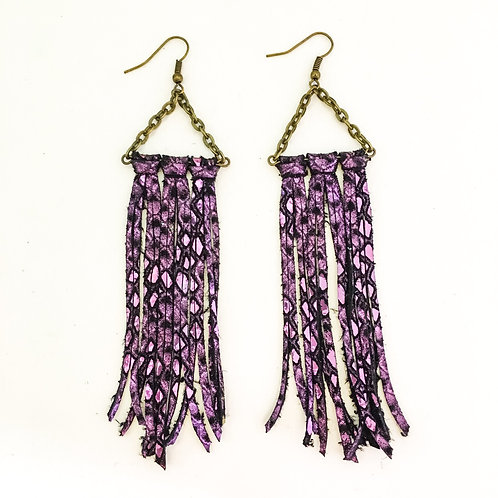 Purple Metallic Fringe