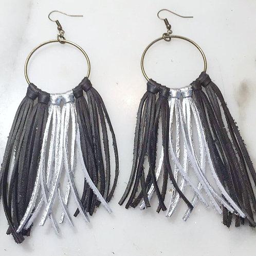 Black & Silver Fringe