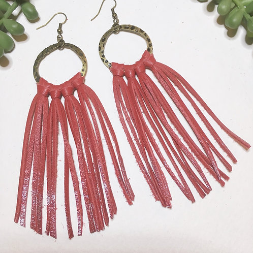 Red fringe with painted accents