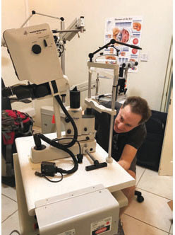 Dr. Spier assembling the laser