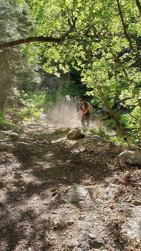 Trail workers on sixshooter trail