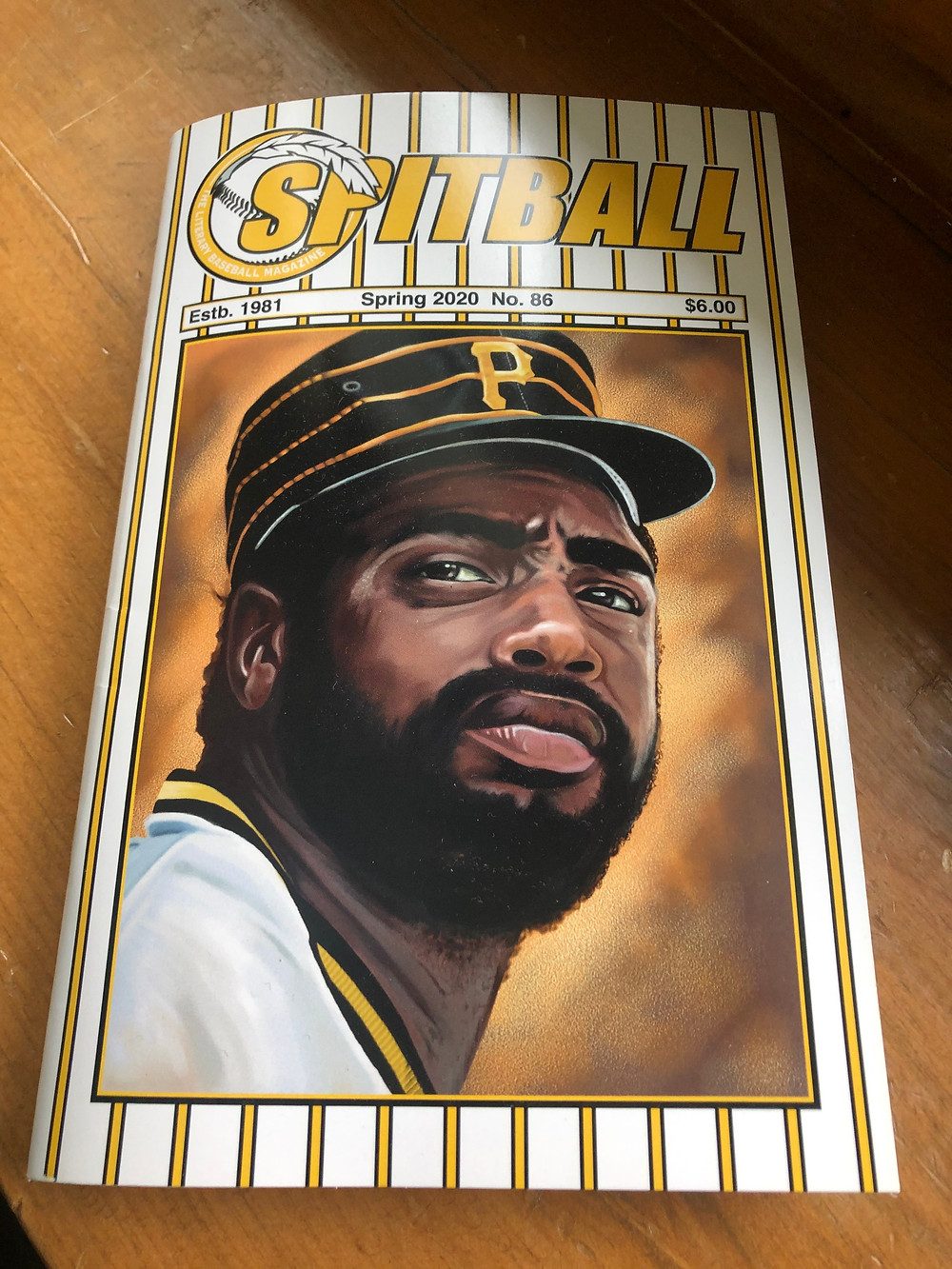 Spring 2020 cover of Spitball: The Literary Baseball Magazine