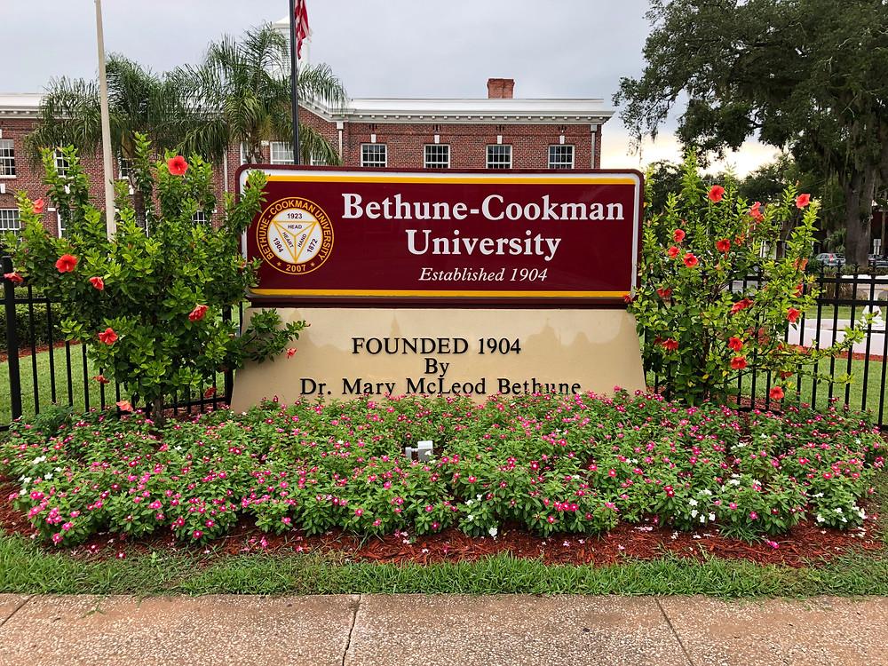 Bethune-Cookman University sign
