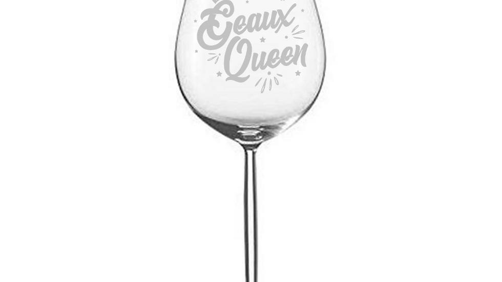 Geaux Queen Wine Glass