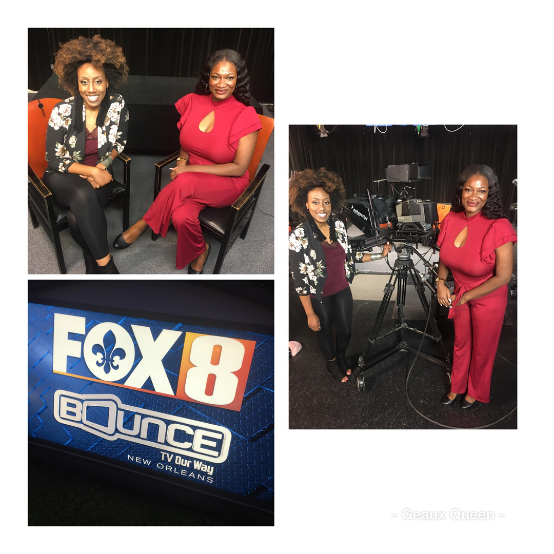 Appearance with Courtney Mpagi, March 2020 on the New Orleans FOX 8 Network.