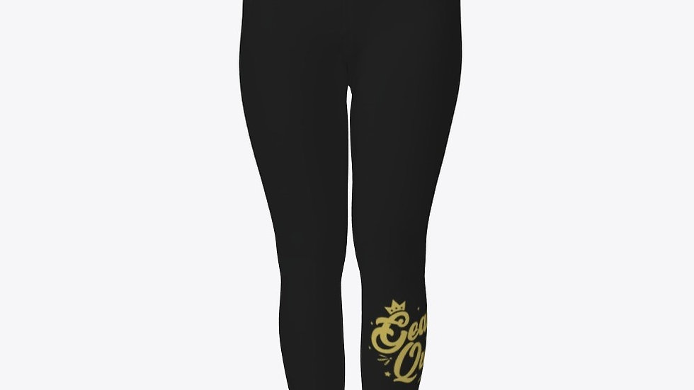 Geaux Queen Tights Black with Gold