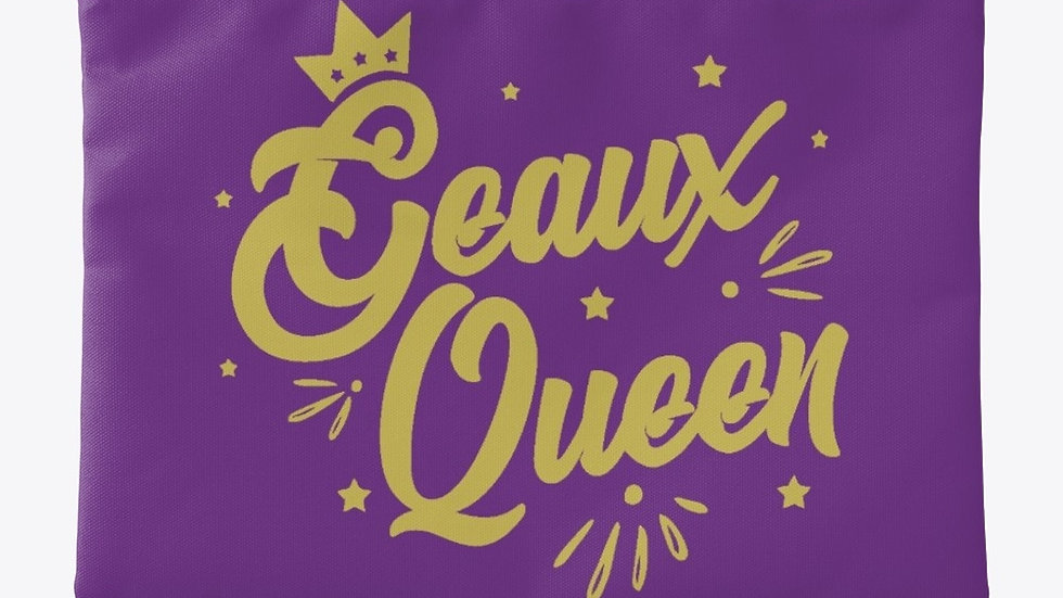 Geaux Queen Pouch Purple with Gold