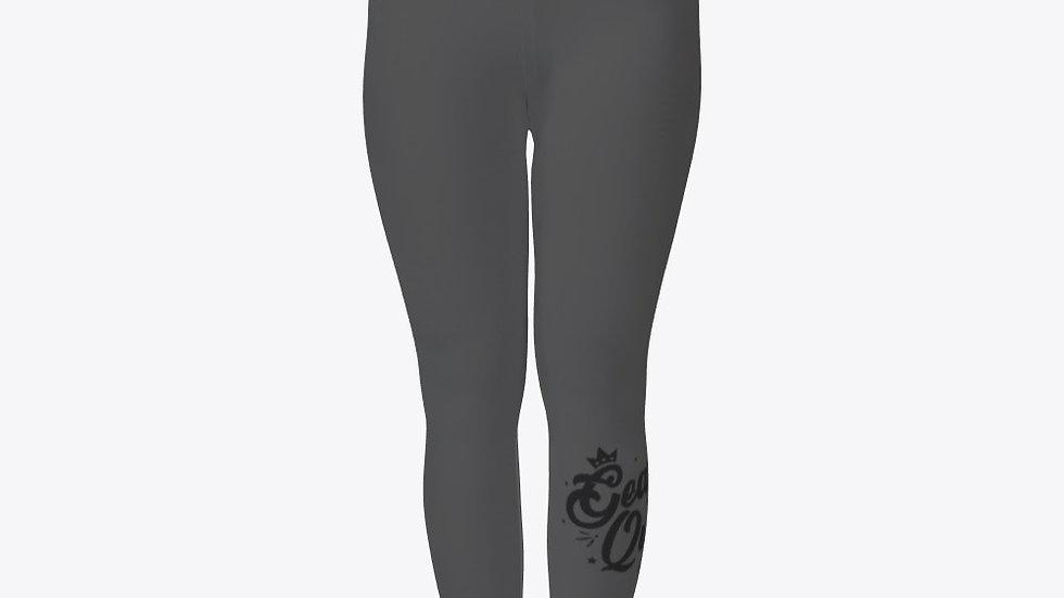 Geaux Queen Grey Tights