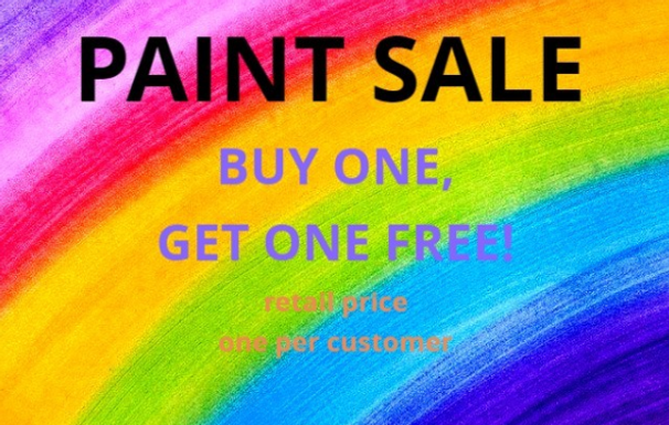 BOGO Paint Promo