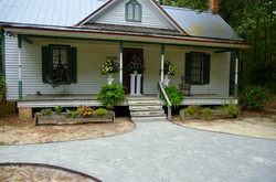 Historic house with wedding flowers
