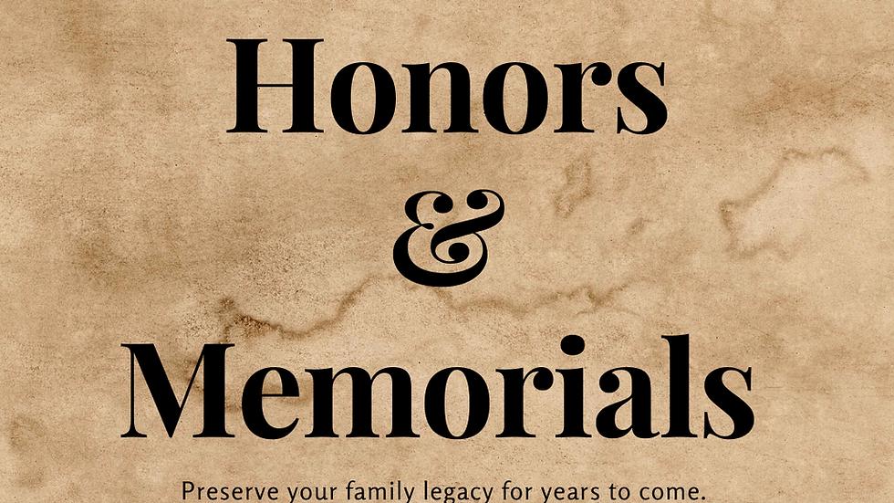 Honors and Memorials