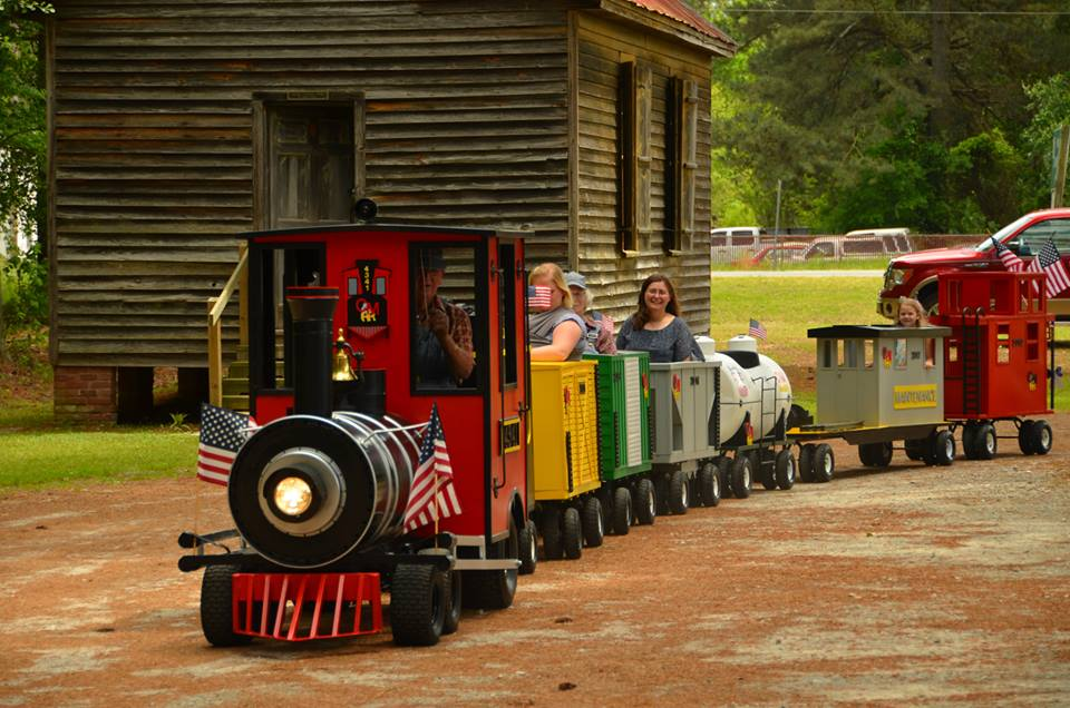 Train ride through the grounds