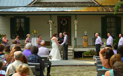 Wedding ceremony at historic homeste