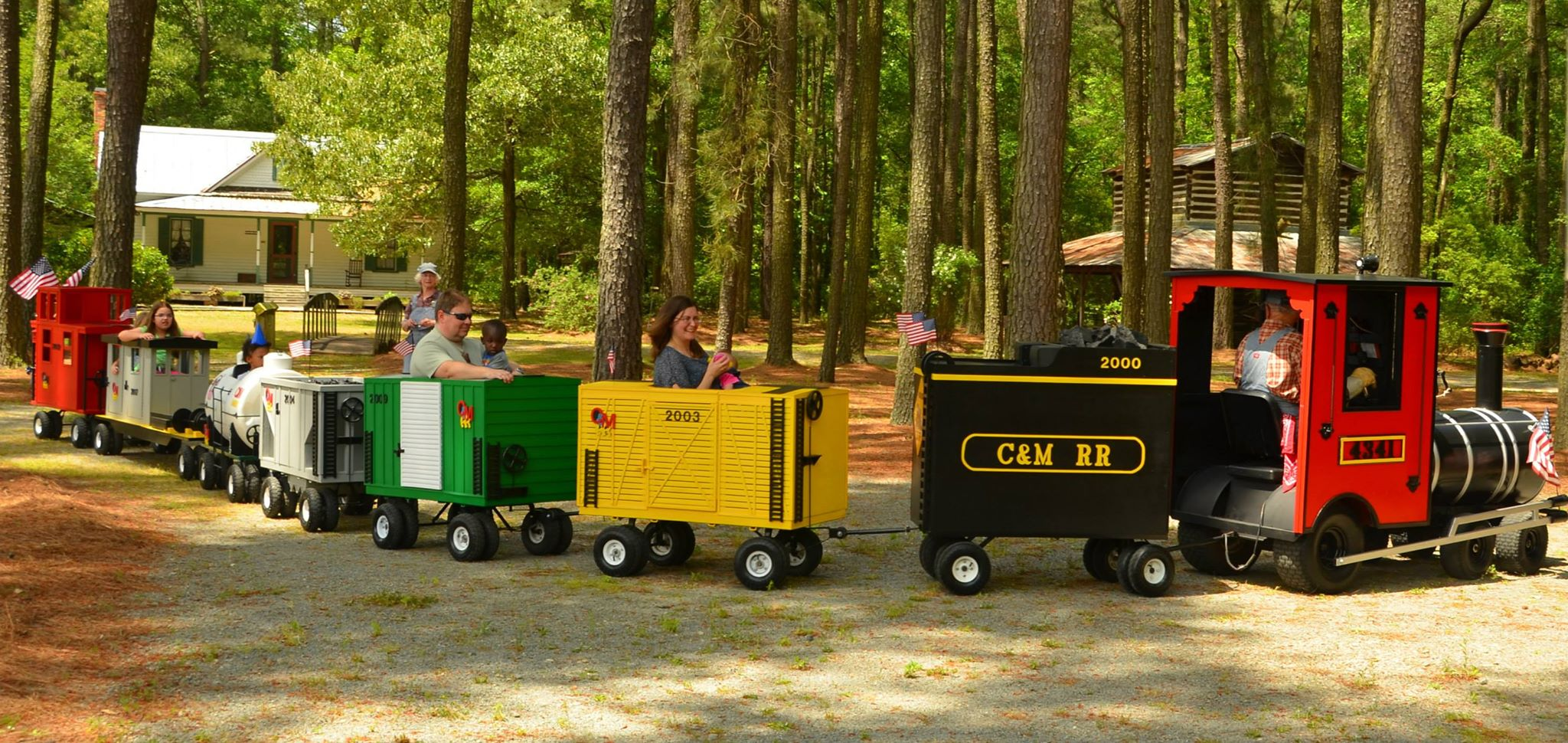 Train ride on the grounds