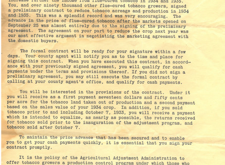 From the Archives: The Agricultural Adjustment Act