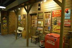 General store wall with vintage ads