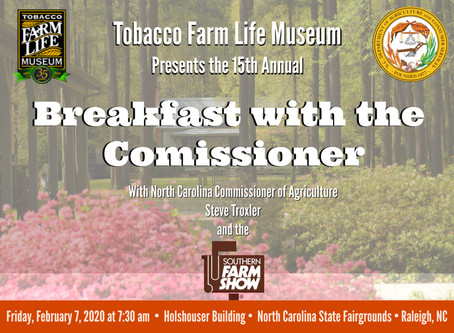 Join Us for Breakfast with the Commissioner & Celebrate Excellence & Innovation in Agriculture