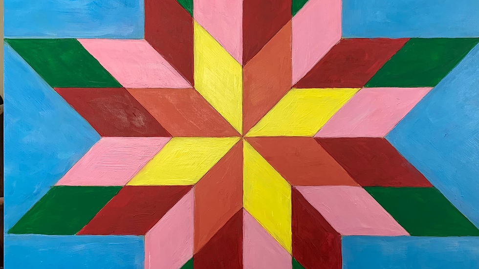 Virtual Painting Class - Barn Quilt