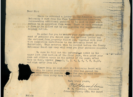 #ThrowbackThursday: Letter from the USDA War Board