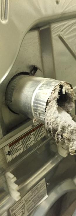 clogged dryer vent