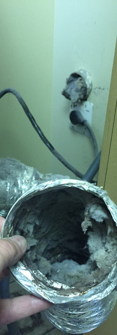 Wall connections full of lint!